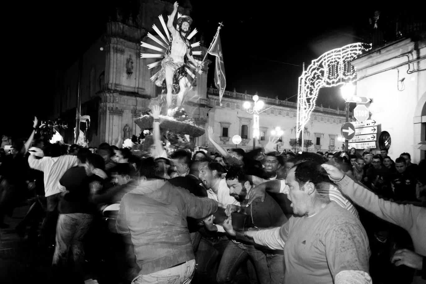 Scicli - I luoghi delle celebrazioni per la pasqua nella citta' sicialiana di Scicli.